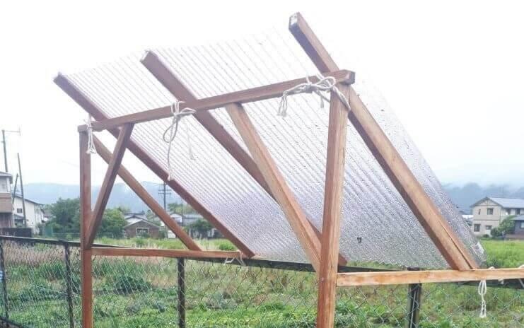 石窯 屋根