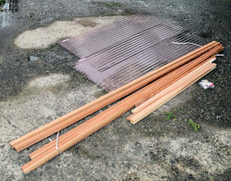 石窯 屋根 材料